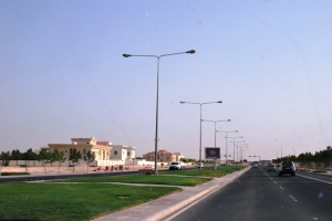 A spot of green on Doha road