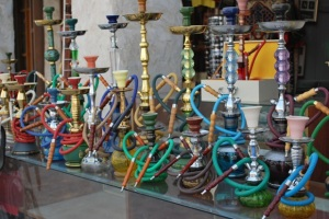 Display of Sheesha at Souq Waqif