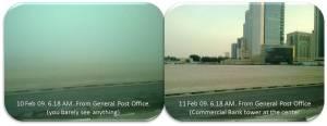 Kabut di area city center (dari arah General Post Office)