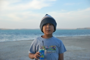 Faiq at Inland Sea