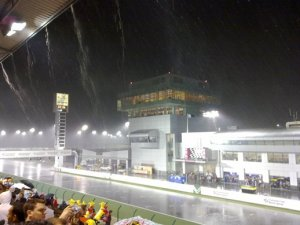Heavy rain delayed MotoGP