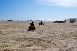 ATV ground with Messaieed Industrial City on the background