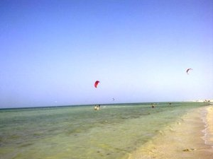 Fuwairit Beach (see kite surfing?)