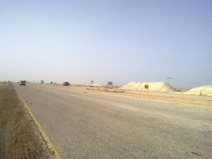 Fuwairit Turn Off at Al Shamal Road (turn right after a pile of sand next to Fuwairit sign)