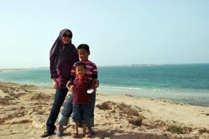 Jabal Al Fuwairit (Al Ghariya Resort at the background)