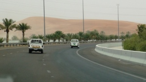 Road E22 from Abu Dhabi to Al Ain