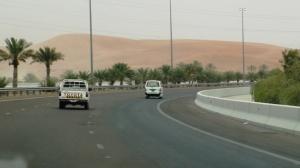 Road E22 from Abu Dhabi to Al Ain