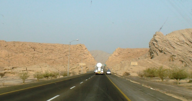 I want to travel from riyadh to muscat by road?