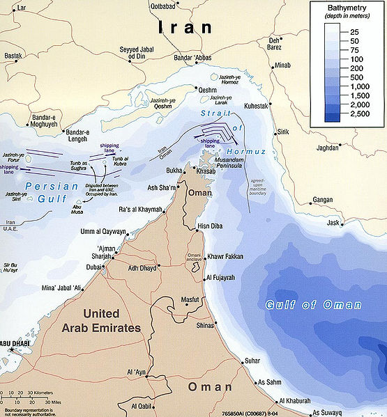 strait of hormuz. in the Strait Hormuz,