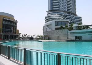 The Address Downtown Burj Dubai, next to The Dubai Mall (on the left)