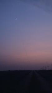 Saudi Arabia road (between Salwa border to Al Sila border) in the evening