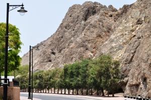 Road at the back of Qasr Al Alam Palace