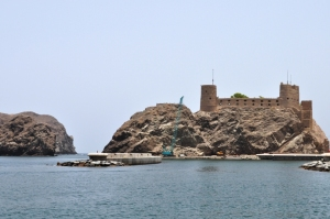 One of the Portuguese forts in the old town of Muscat