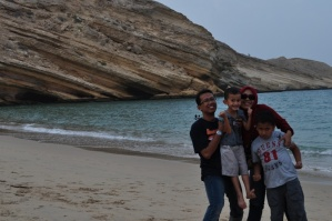 At Qantab Beach - see how rocky mountain plunged into the sea