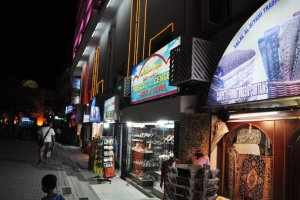 Mutrah Souk at night - pedestrian view