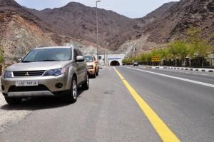 Wadi Al Helo Tunnel on Road S116 Sharjah - Kalba Road, UAE