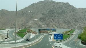 Wadi Al Helo Interchange at Road E102 Sharjah - Kalba Road