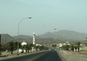 Hatta Town (Hatta Fort at the background)