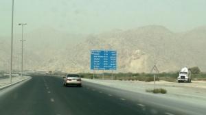 Road in Ras Al Khaimah leading to Musandam