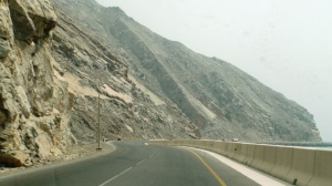 The road is built as if only for you. A quiet Khasab Road
