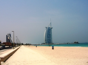 Jumeirah Hotel (left) & Burj Al Arab (right)