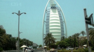 A closer look of the burj from Jumeirah Road