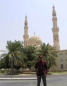 Jumeirah Mosque from parking area near Jumeirah Road