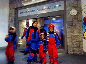 At the entrance to Snow Park - Ski Dubai