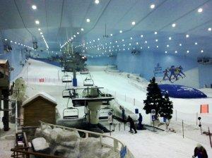 Ski Slope inside Ski Dubai