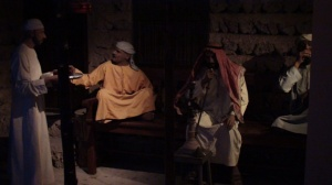 A diorama inside the gallery. Shown here a daily life of old Dubai.