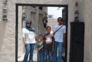 At Dubai Heritage Village gate