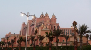 Atlantis The Palm as seen from the outermost road