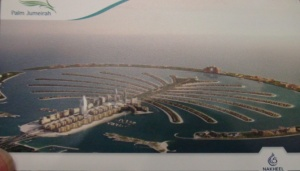 The Palm Jumeirah as shown on Monorail card