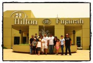 Jakcom Families at Hilton Fujairah before set off to Musandam (Courtesy of Taufiq)