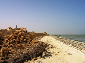 Al Jemail ruins near the beach