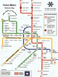Unofficial picture showing network of Doha Metro