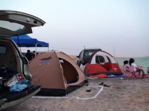 Camping at Fuwairit