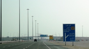 Doha - Dukhan Highway (showing turnoff to Zikreet sign)