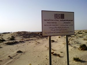 Zikreet Fort ruins signage