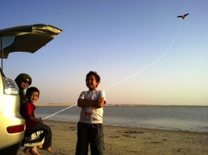 At Zikreet Beach (about 3-4 km off Doha -Dukhan Highway)