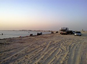 Dukhan Beach (cars can enter beach area although sideroad parkings are available)