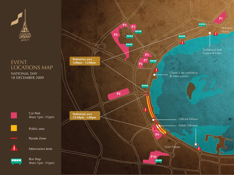 map of qatar. Event Map 2009 Qatar National