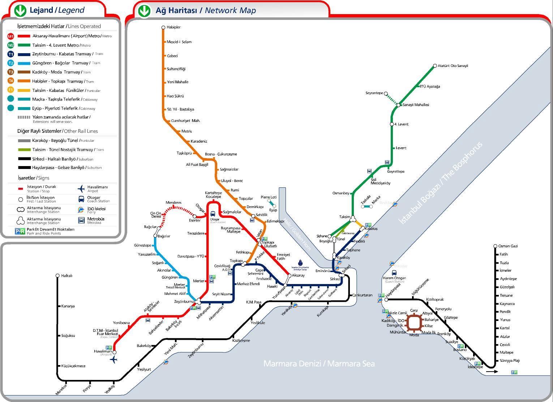 Mapa transportes istanbul
