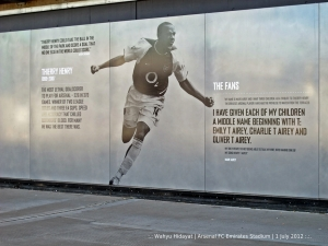 Thierry Henry, one of the Arsenal legends