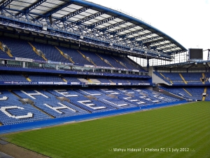 One of the stands in Stamford Bridge