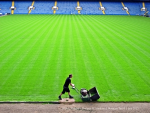 The pitch under preparation for the start of 2012-13 league