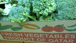 A box of 4-kg broccoli worth 20QR only