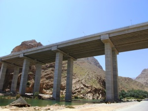 Highway Bridge at the entrance to Wadi Tiwi