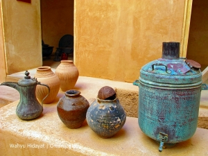 Traditional crafts on display at Jabreen Castle