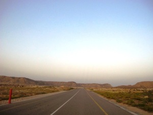 Road to Ras Al Jinz Turtle Nature Reserve